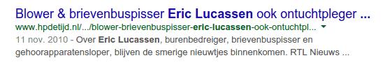 Zoekresultaat Eric Lucassen