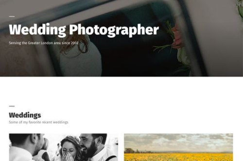 Benson photo portfolio theme
