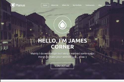 PlanusWP one page WordPress theme