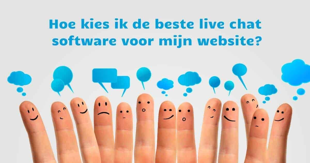 Live chat service aanraders