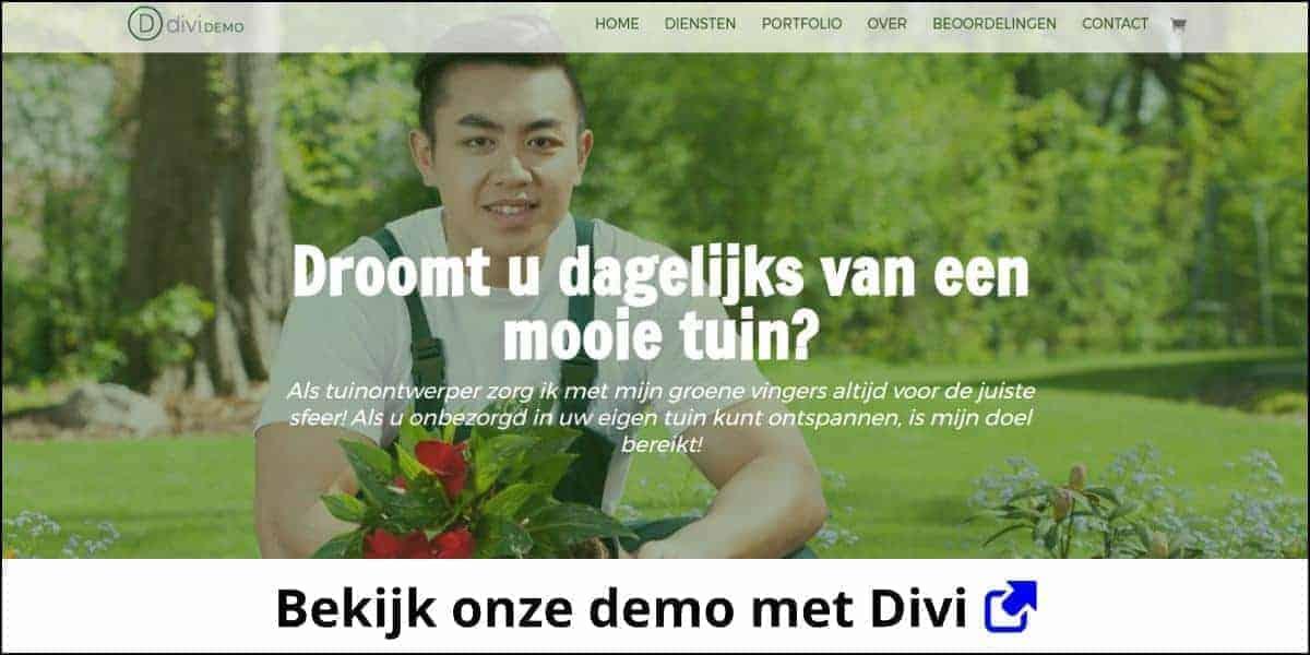 One page website met Divi (demo)