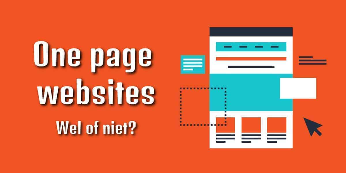 One page websites: wel of niet?