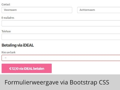 iDEAL plugin, weergave via Bootstrap CSS