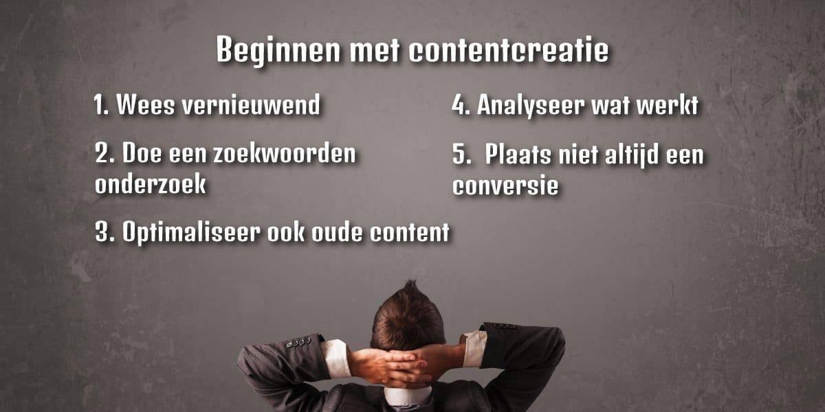Tips voor contentcreatie