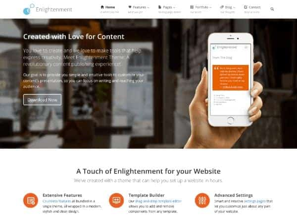 Enlightenment multipurpose theme