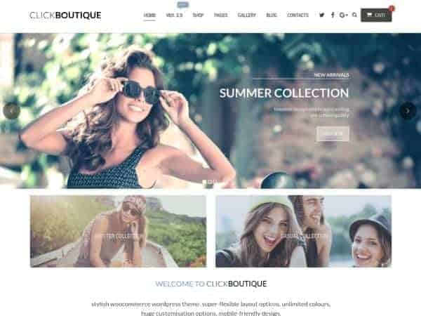 Click Boutique WooCommerce theme
