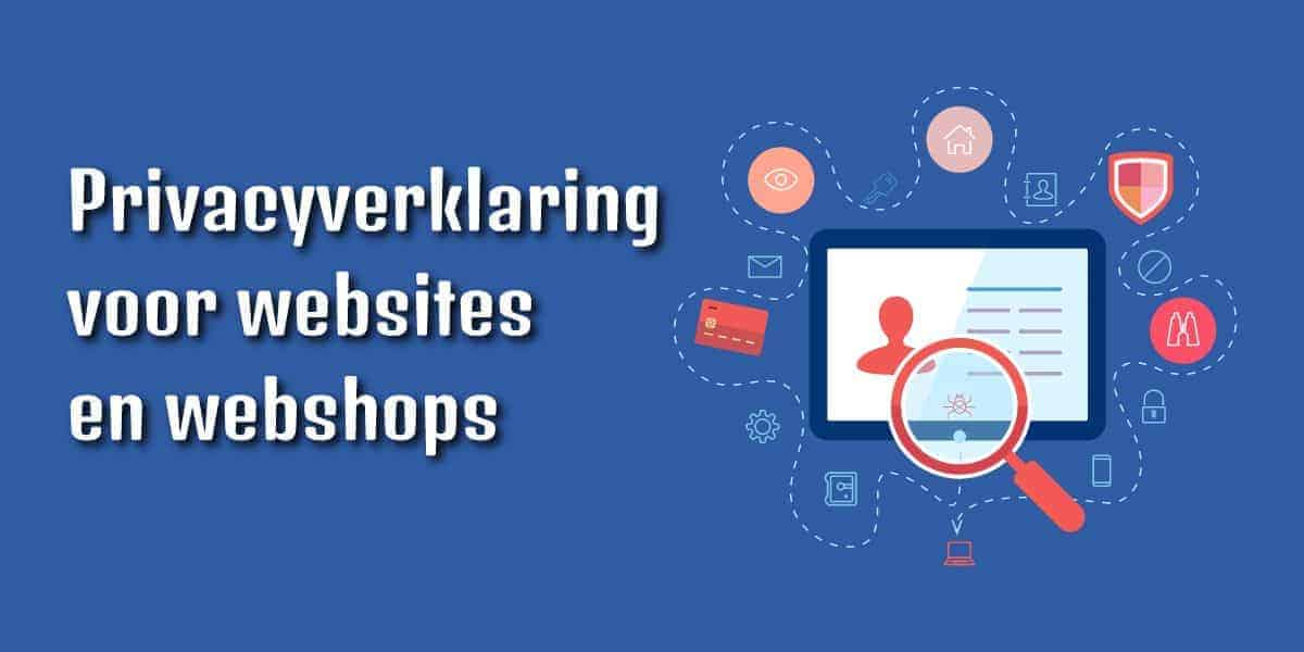 Privacyverklaring websites en webshops