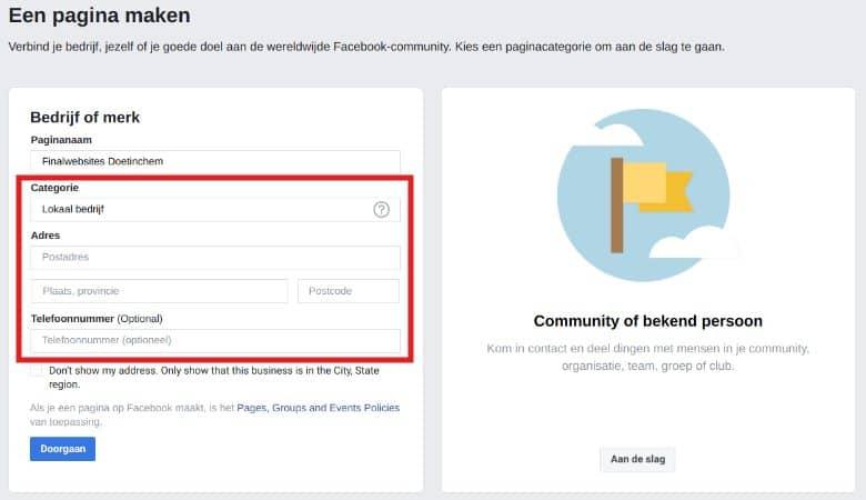Facebook bedrijfspagina maken