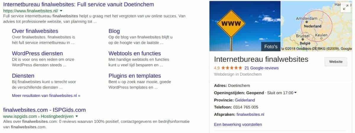 finalwebsites op Google