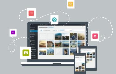 WordPress mediabibliotheek header