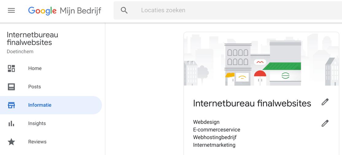 Local SEO - Google Mijn Bedrijf