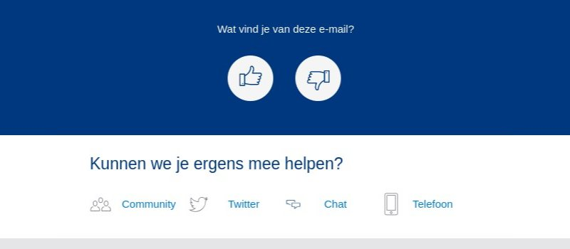 Voorbeeld NS e-mail contact box
