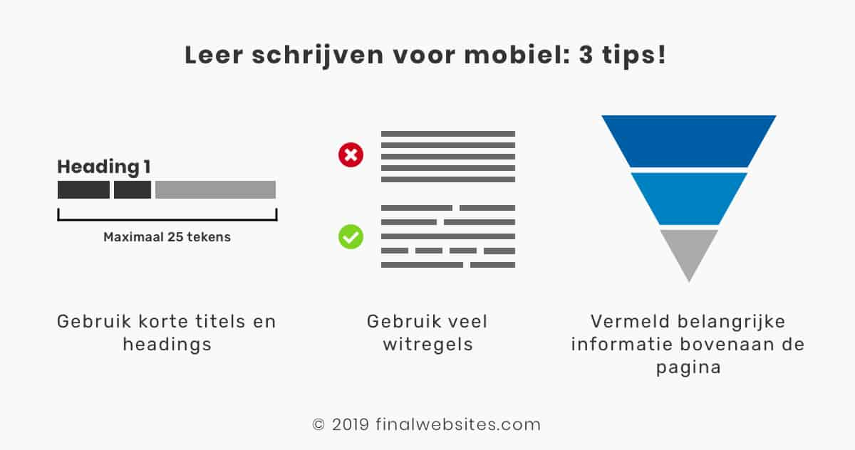 3 tips schrijven voor mobiel