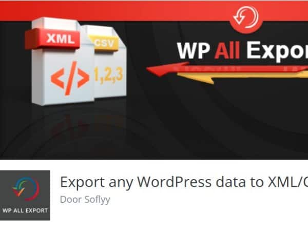 Export any WordPress data to XML or CSV