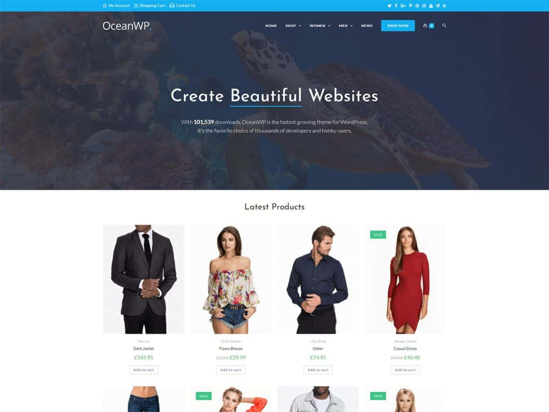OceanWP voor webshops met WooCommerce